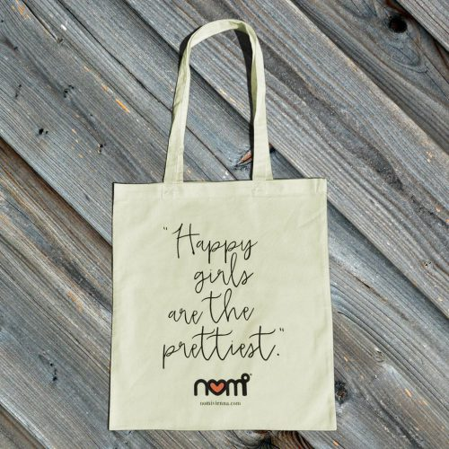 nomi tote bag - happy girls are the prettiest / pastell mint