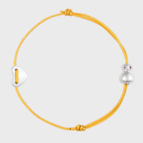 nomi Glücksfloh Armbändchen Edelstahl - mellow yellow